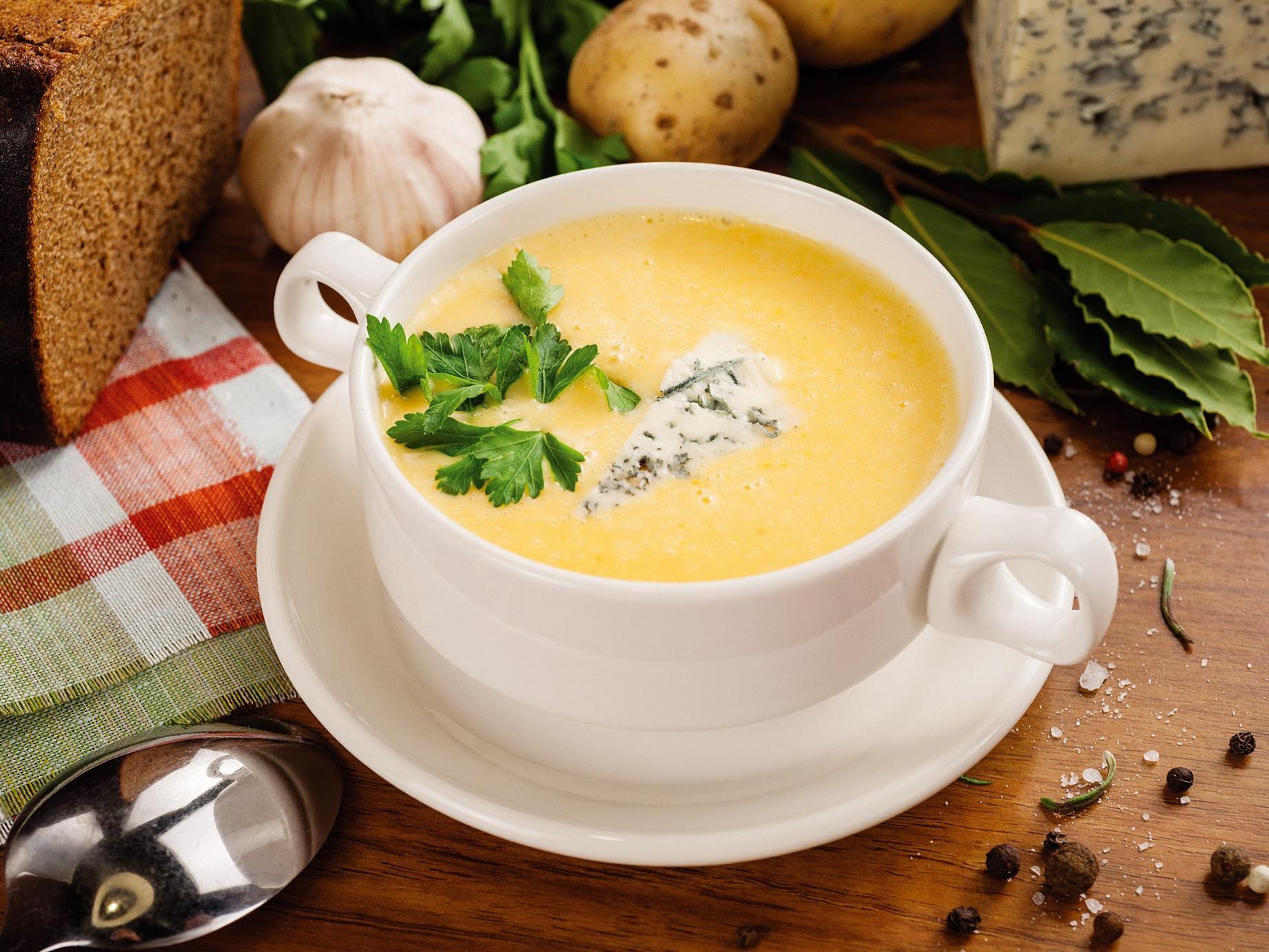 Сырный суп пюре с курицей и плавленным сыром рецепт с пошагово