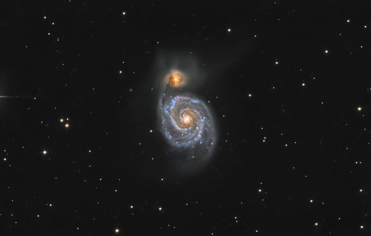 Галактика М51 Водоворот