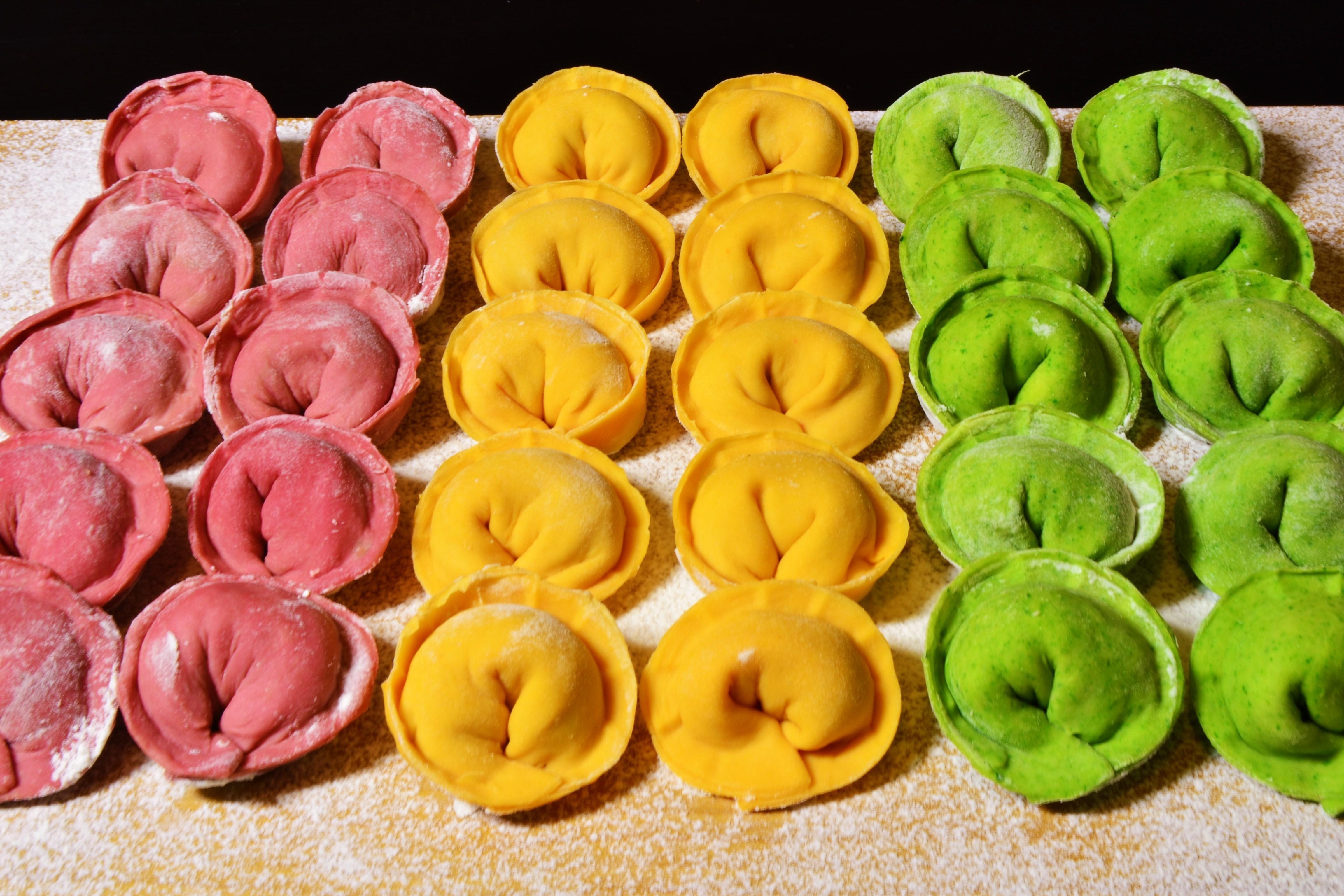 Цветные пельмени