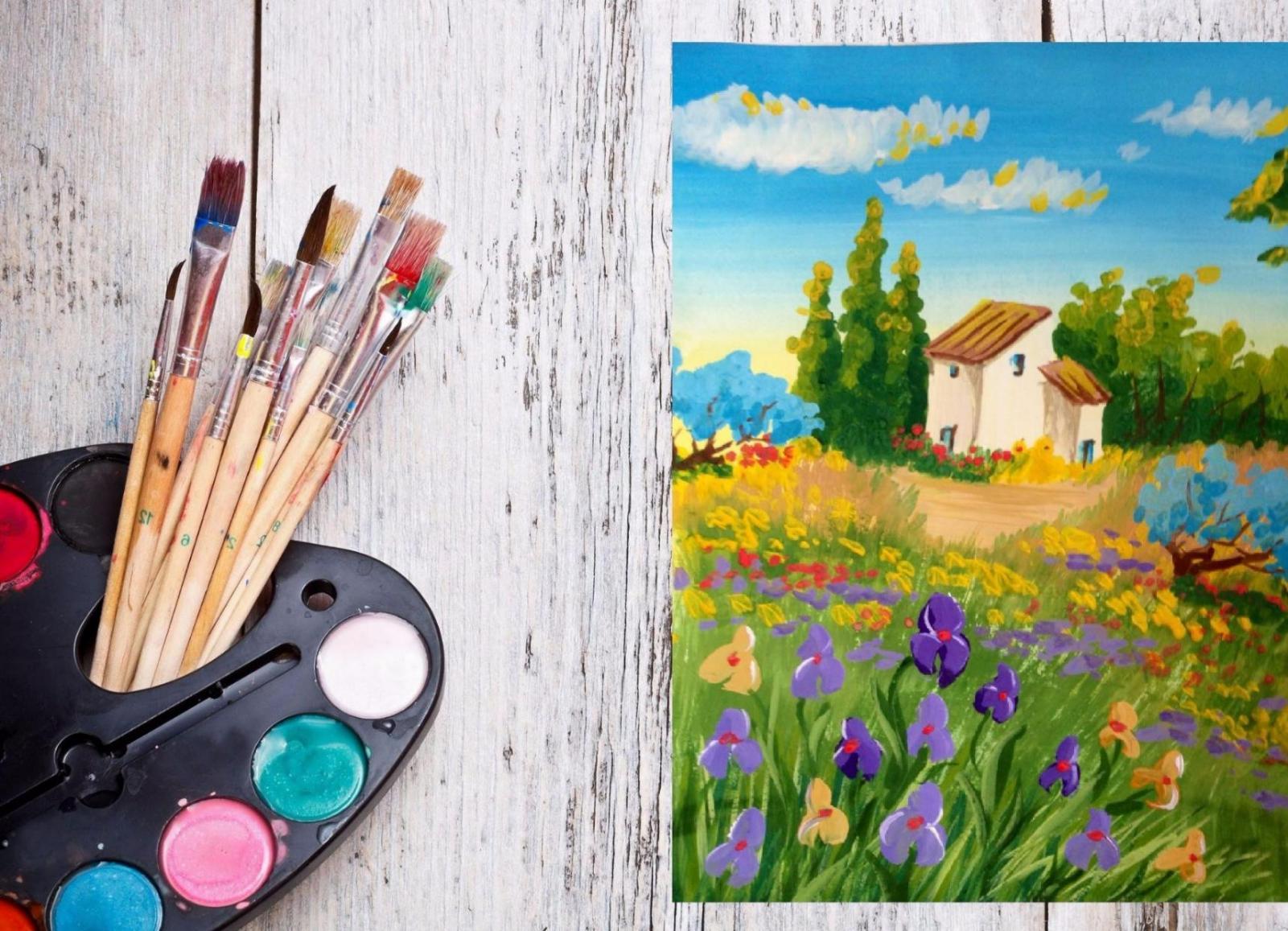 Картинки простые красками