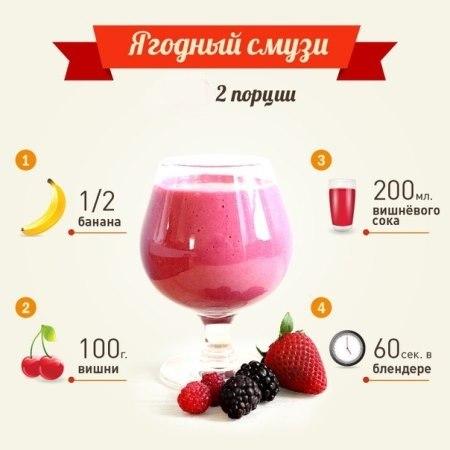 фото рецепт смузи ягодные